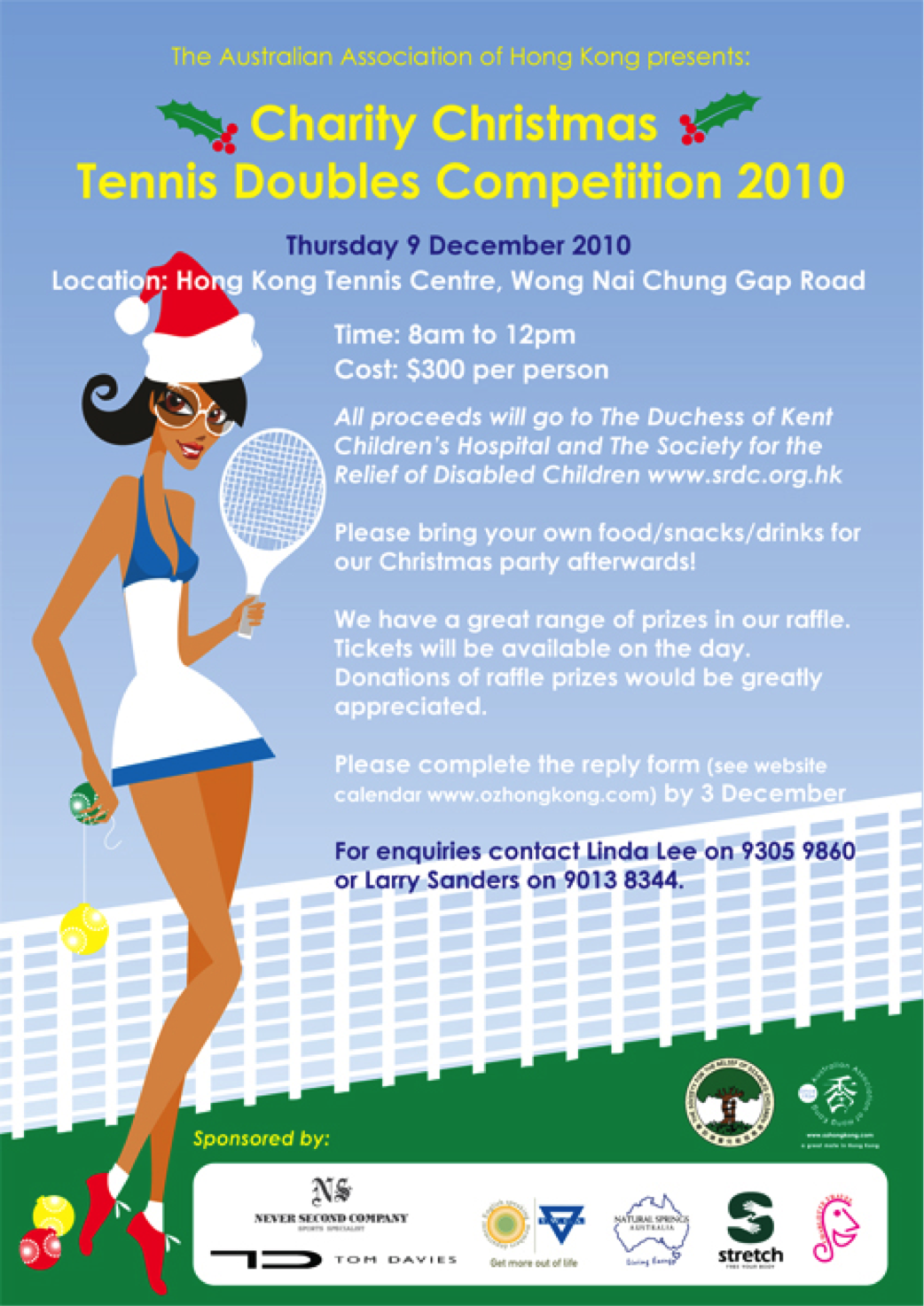 Charity Christmas Tennis Doubles Competition