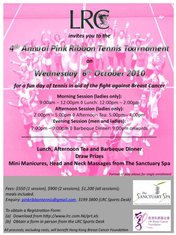 Pink Ribbon Event at LRC