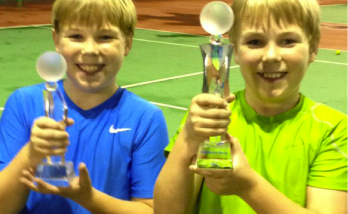 12/U Junior Tournament. Congratulations to Henry(right) the eventual winner over twin brother Chet.