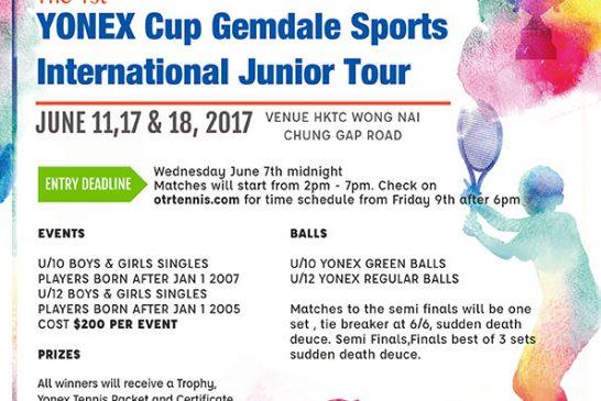 YONEX Cup Sign Up under tournaments