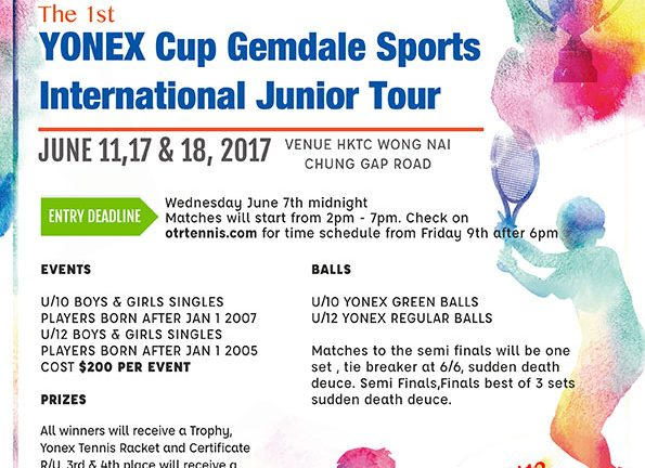 YONEX Cup Sign Up under tournaments